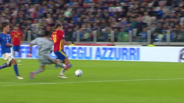 Video «Buffons Aussetzer gegen Spanien» abspielen