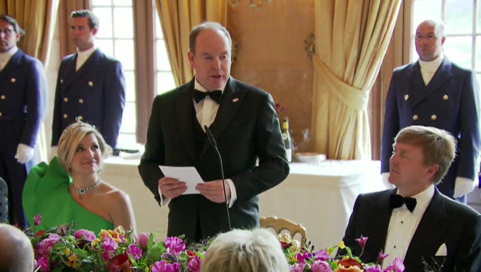 Fürst Albert zu Besuch in den Niederlanden