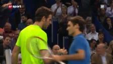 Video «Swiss Indoors Basel 2012: Zusammenfassung Federer - Del Potro» abspielen