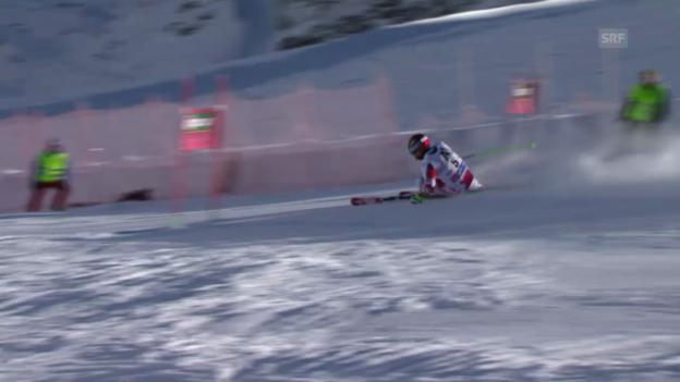 Video «Ski: Riesenslalom Männer Sölden. 1. Lauf Hirscher» abspielen