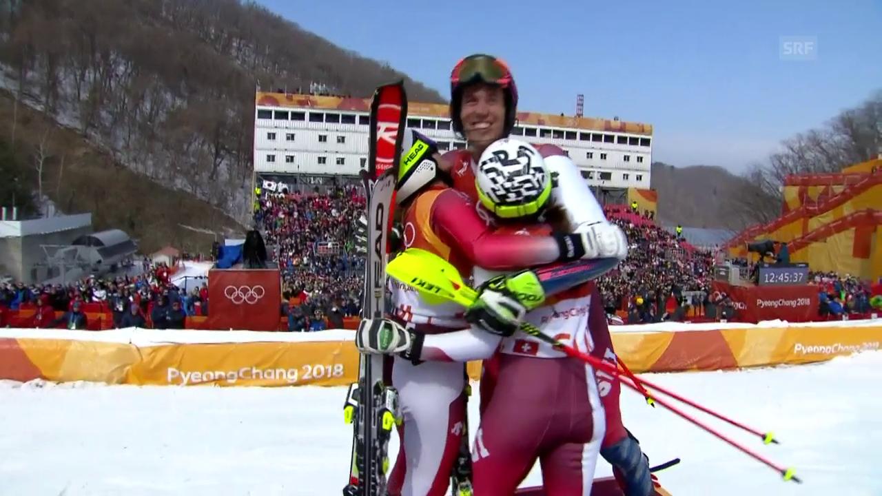 Die Schweiz gewinnt Olympia-Premiere im Team-Event