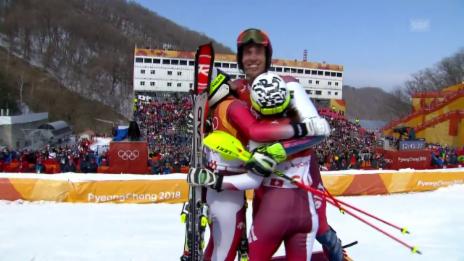 Link öffnet eine Lightbox. Video Die Schweiz gewinnt Olympia-Premiere im Team-Event abspielen