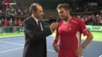 Video «Davis Cup: Wawrinka - Gomez» abspielen