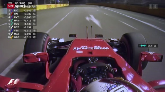 Video «Formel 1: Qualifying GP Singapur» abspielen