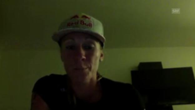 Video «Triathlon: Skype-Interview mit Ironman-Siegerin Daniela Ryf, Gratulationen» abspielen