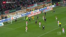 Video «Fussball: Marwin Hitz schiesst Augsburg zum Remis» abspielen