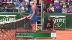 Video «Tennis: Die Auftaktpartien von Bacsinszky und Bencic in Paris» abspielen
