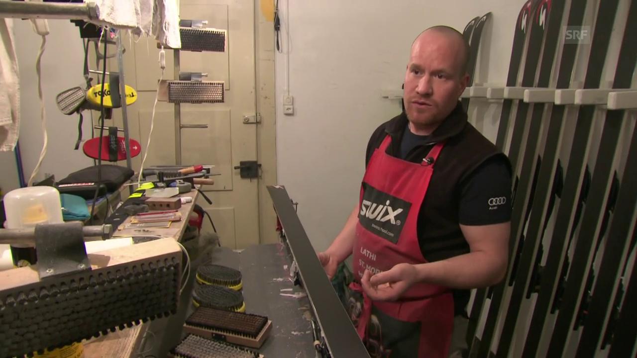 Stefan Thöni weiht uns in die Geheimnisse der Skipräparation ein