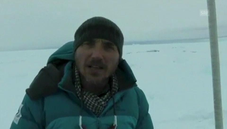 Expeditionsleiter Turney zur aktuellen Lage (Orginalton englisch)