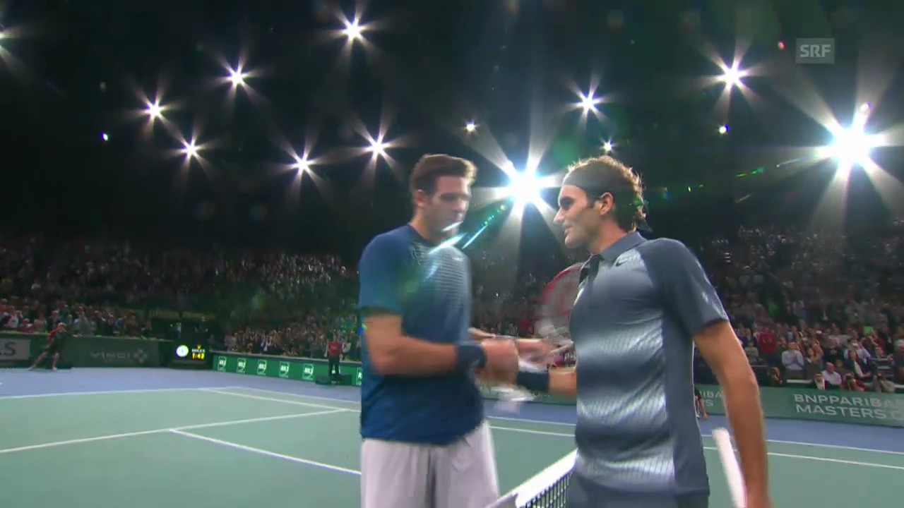 Highlights Federer - Del Potro Paris-Bercy
