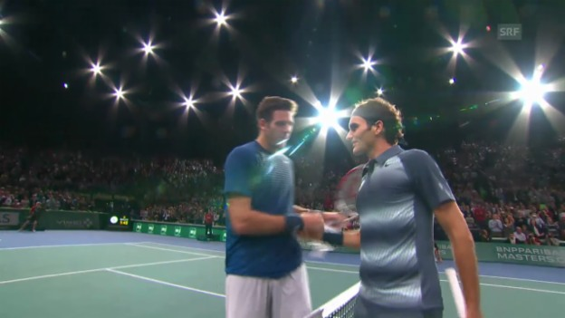 Video «Highlights Federer - Del Potro Paris-Bercy» abspielen