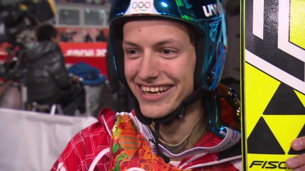 Video «Skispringen: Grossschanze Männer, Interview mit Gregor Deschwanden (sotschi direkt, 15.02.2014)» abspielen