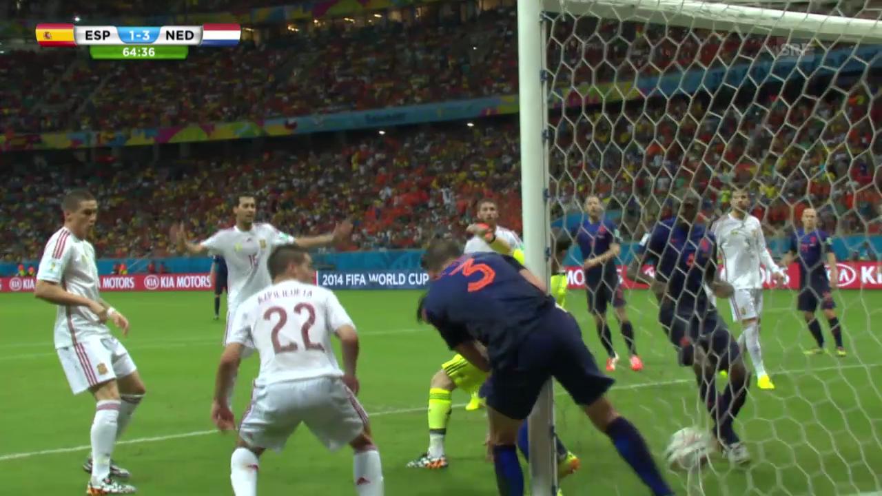 FIFA WM 2014: Stefan de Vrijs Treffer gegen Spanien
