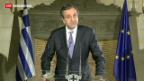 Video «Griechenlands Regierungskoalition geplatzt» abspielen