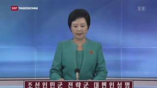 Video «Kriegsrhetorik zwischen Trump und Kim» abspielen