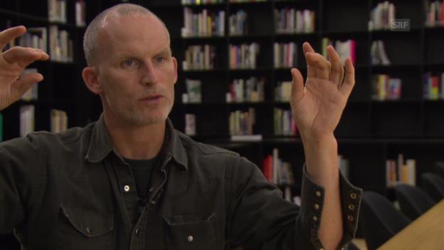 Video «Matthew Barney über das Verhältnis zwischen Film und Skulptur» abspielen