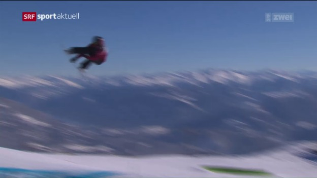 Video «Snowboard: Qualifikation Slopestyle in Laax» abspielen
