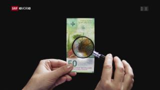 Video « FOKUS: Sind Notenfälschungen im grossen Stil noch möglich?» abspielen