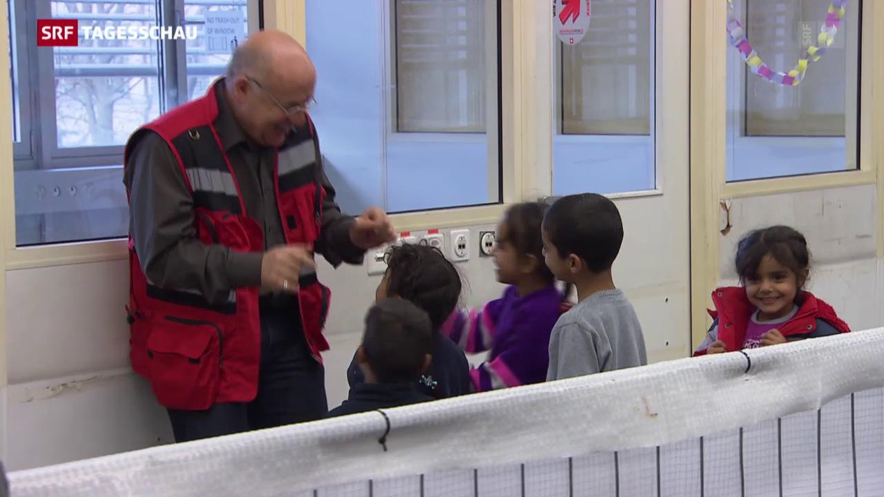 Schweizerisches Rotes Kreuz als Flüchtlingshelfer