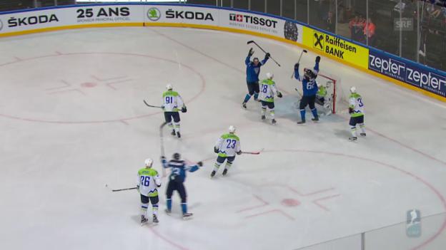 Video «Die Tore bei Finnland - Slowenien» abspielen