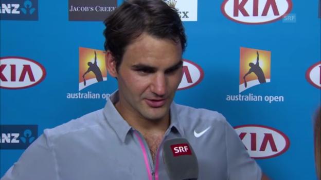 Video «Australian Open: Interview Federer nach Spiel gegen Dawidenko» abspielen