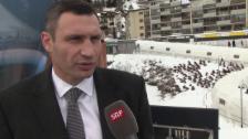 Video «Vitali Klitschko über die Krisen-Lage in Kiew (eng.)» abspielen