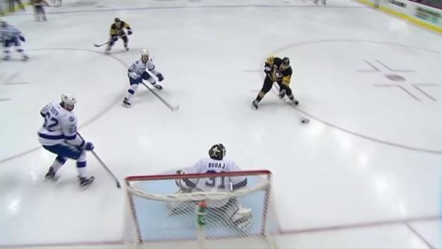 Video «Geglücktes Penguins-Debüt: Streit trifft zum 3:2» abspielen