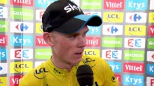 Video «Rad: TdF 2015, 10. Etappe, Interview mit Chris Froome» abspielen