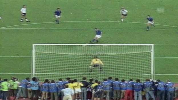 Video «Fussball: WM 1990, Italien - England» abspielen