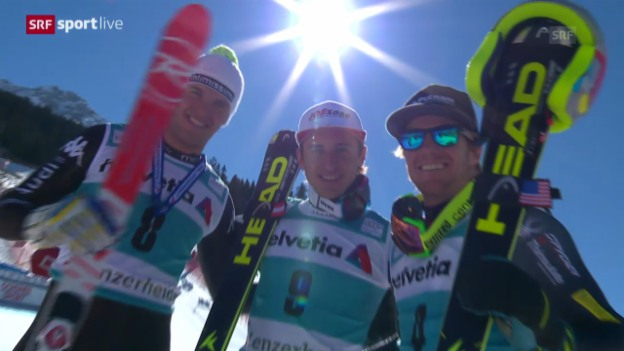 Video «Ski: Abfahrt Männer Lenzerheide («sportlive», 12.3.14)» abspielen