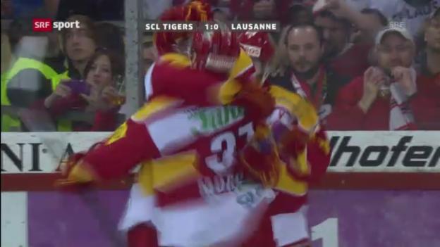 Video «Eishockey: SCL Tigers - Lausanne («sportaktuell»)» abspielen