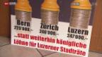 Video «Stadtrat Luzern schiebt Lohnkürzung hinaus» abspielen