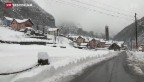 Video «Schnee verursacht Verkehrschaos» abspielen