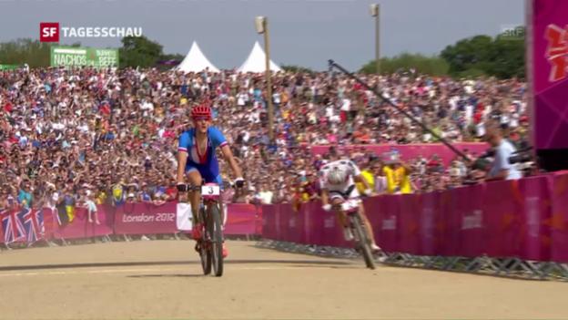 Video «Olympia 2012: Nino Schurter schrammt an Gold vorbei» abspielen