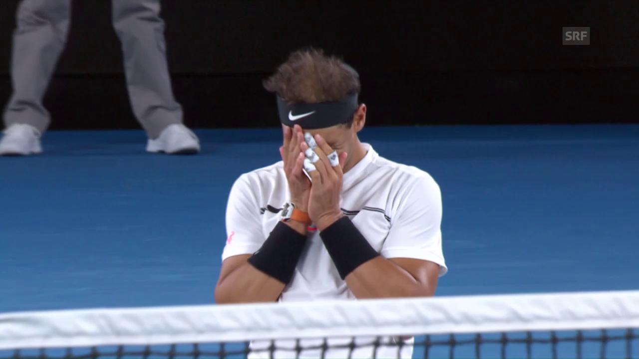 In typischer Nadal-Manier: So beendet der Spanier den Match