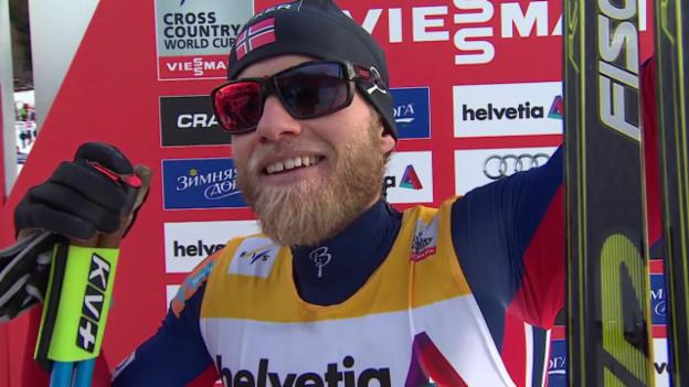 Video «Langlauf: 15 km klassisch Davos, Interview Sundby (engl.)» abspielen