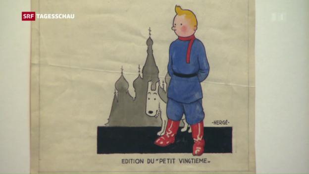 Video «Hergé-Ausstellung in Paris» abspielen