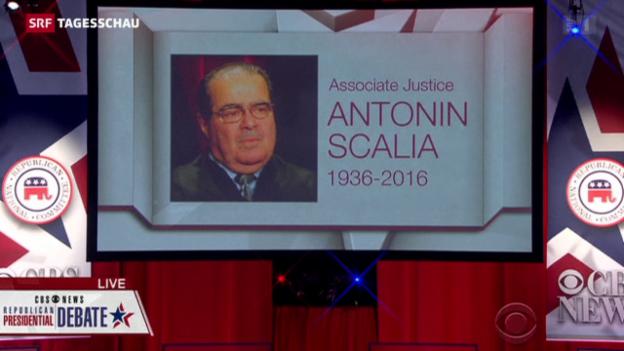 Video «Machtkampf nach Tod von Richter Scalia» abspielen