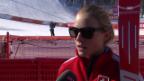 Video «Sotschi, Ski Alpin: 1. Training der Frauen, Interview mit Lara Gut» abspielen