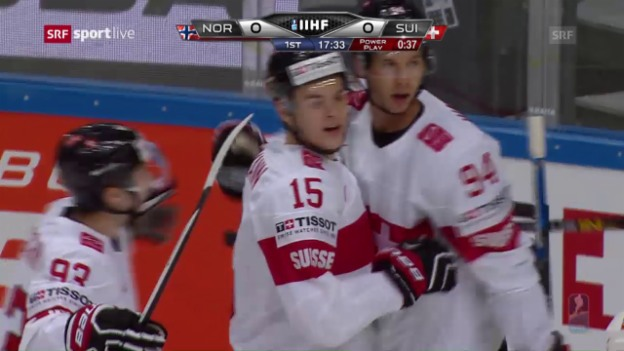 Video «Samuel Walsers Führungstor gegen Norwegen» abspielen