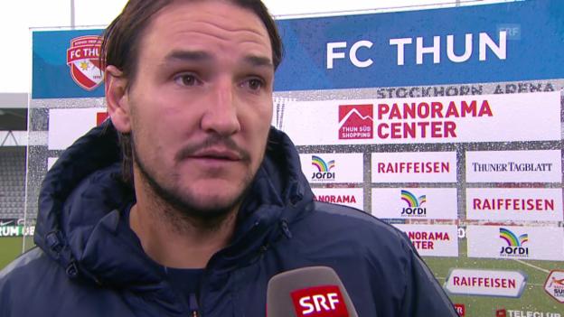 Video «Fussball: Interview mit Alain Nef nach Thun-FCZ» abspielen