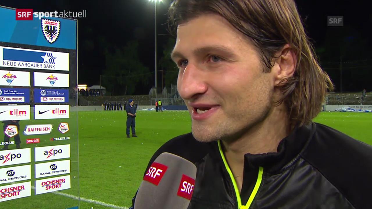 Fussball: Nach Aarau-GC, Interview Salatic
