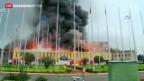 Video «Grossbrand legt den Flughafen von Nairobi lahm» abspielen