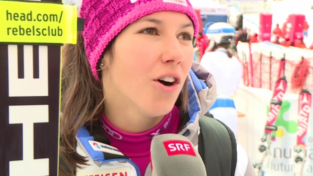 Video «Ski: Slalom Santa Caterina, Interview Wendy Holdener» abspielen