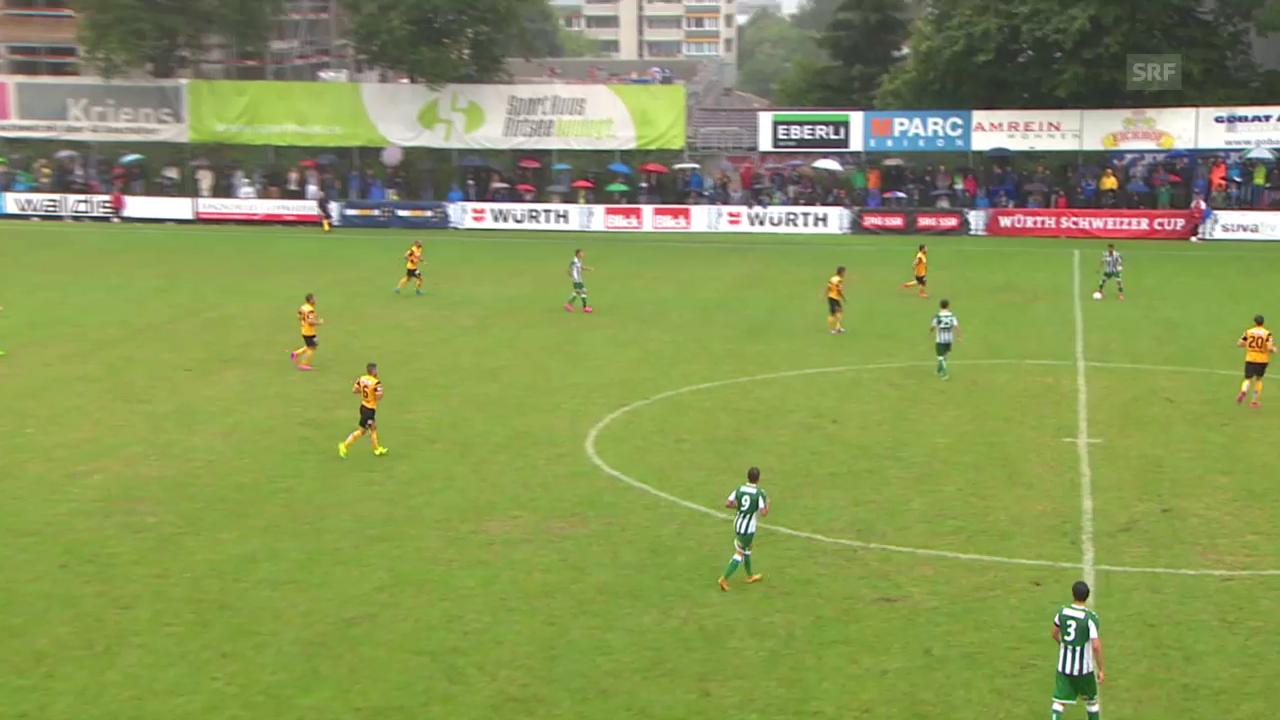 Fussball: Schweizer Cup, 1. Runde: Kriens - YB: TOR Sorgic 1:2