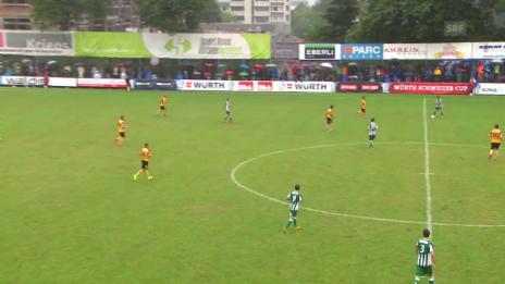 Video «Fussball: Schweizer Cup, 1. Runde: Kriens - YB: TOR Sorgic 1:2» abspielen