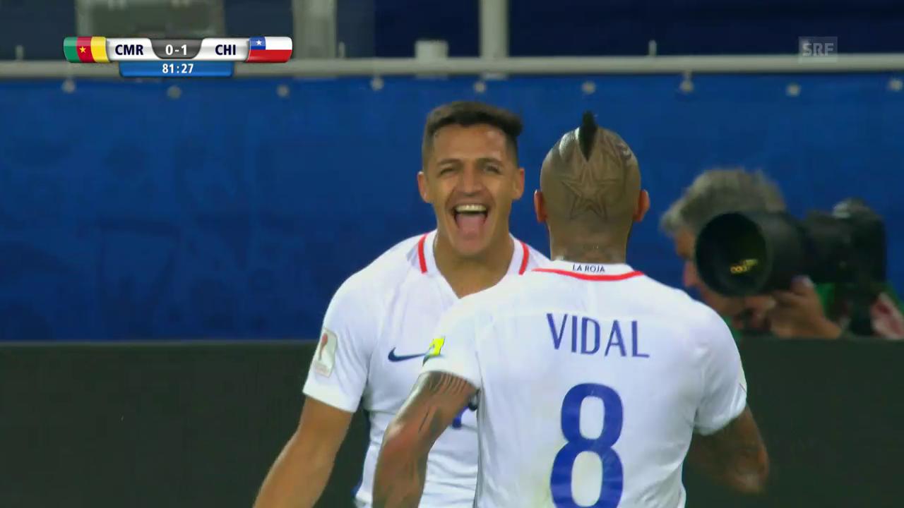 Vidal trifft zum 1:0 für Chile