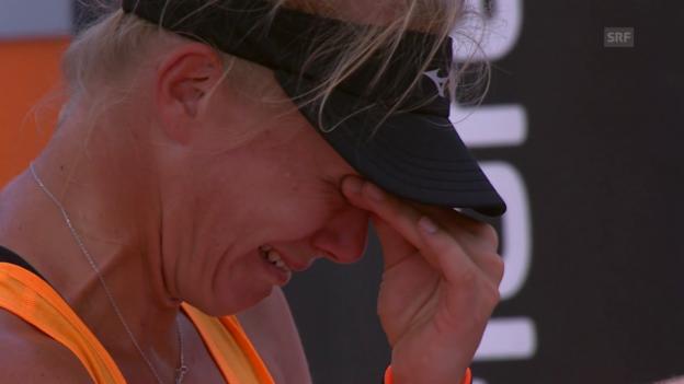 Video «Von Tränen zum Strahlen: Gstaad-Siegerin Bertens» abspielen