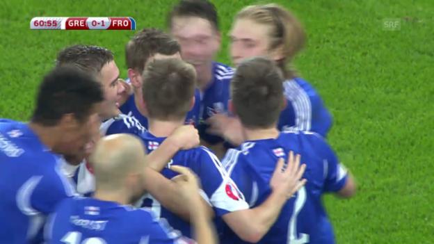 Video «Fussball: Griechenland-Färöer 0:1» abspielen
