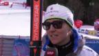 Video «Fabienne Suter starke Zweite hinter Seriensiegerin Vonn» abspielen